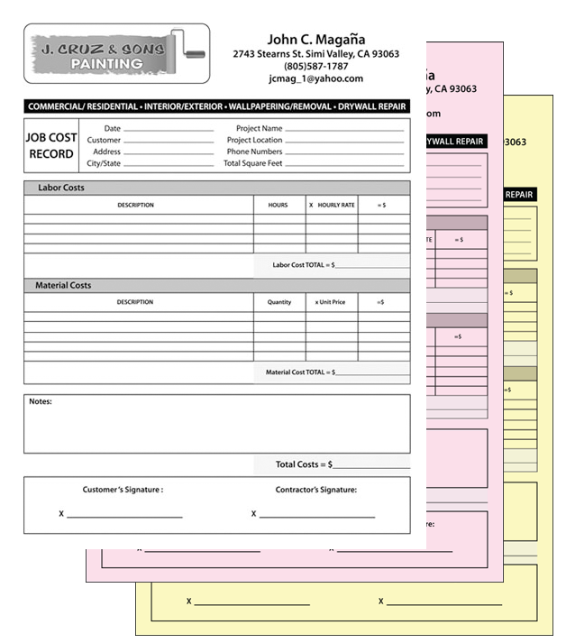 custom ncr carbonless forms invoices in simi valley ca With custom carbonless invoice forms