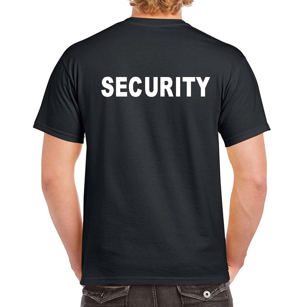 security t shirts custom security uniform 100 cotton preshrunk. Black Bedroom Furniture Sets. Home Design Ideas