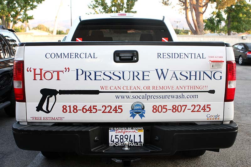 Custom Ford F150 Tailgate Wrap With Logo Los Angeles Ca