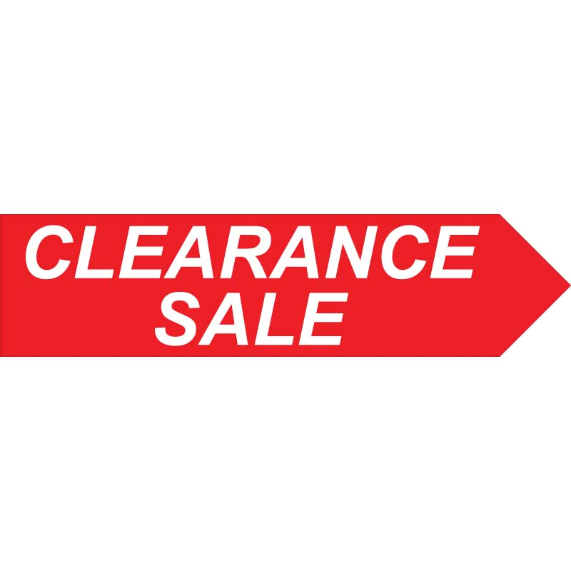 Clearance Sale 1ft x 4ft Directional Arrow Signs Spinner