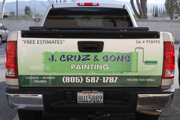 Custom Pickup Truck Tailgate Wraps Spectracolor In Simi