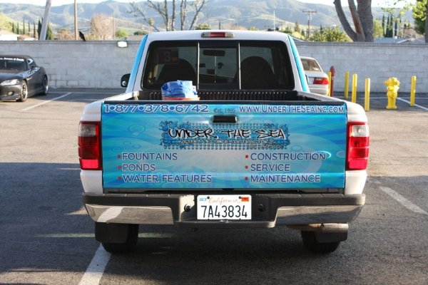Ford Park Bell Gardens >> Custom Ford F150 Tailgate wrap with logo Los Angeles CA