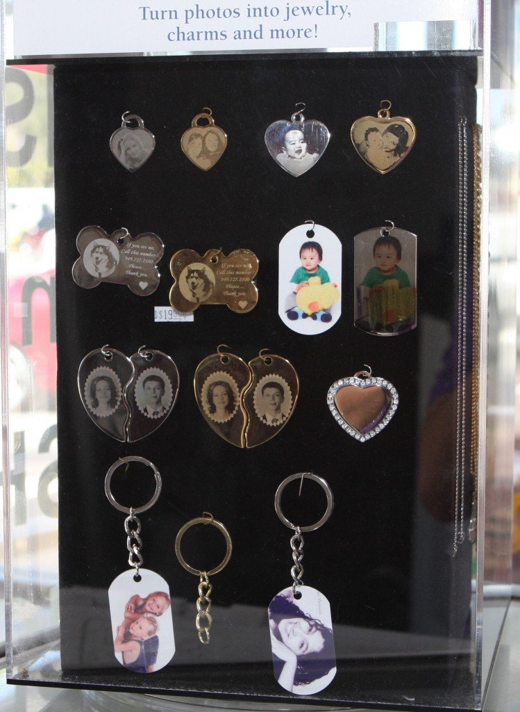 custom photo engraved dogtag pendants made at spectracolor in simi valley, ca