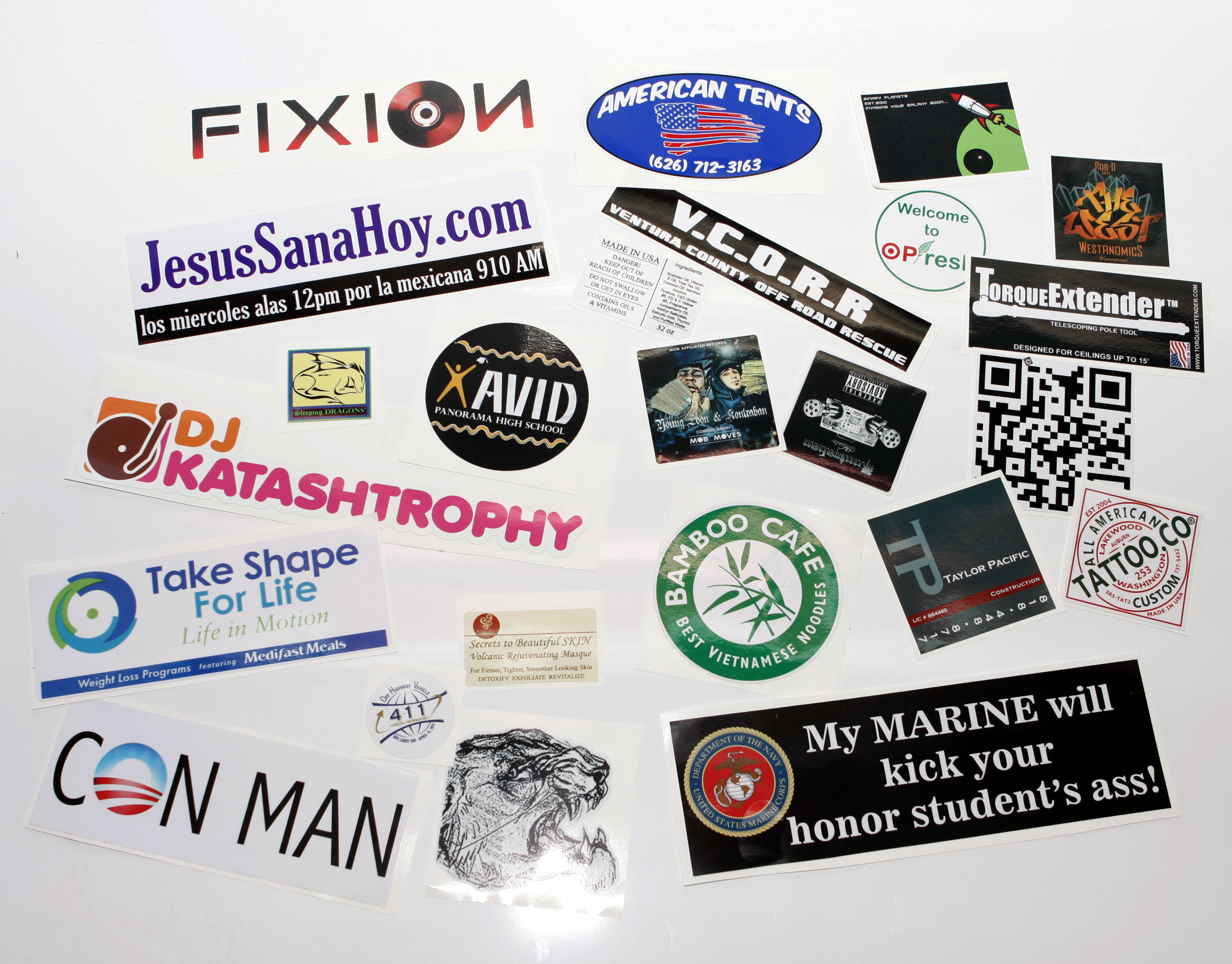 Custom printed stickers bumper stickers at spectracolor in simi valley ca