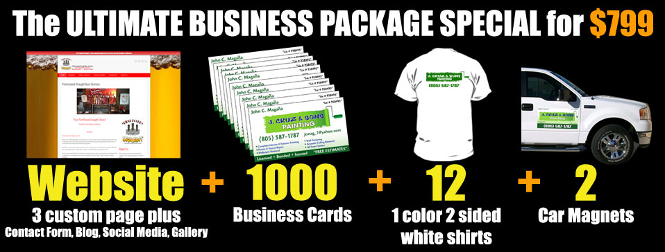 The Most Complete Start Up Business Packages Available At Spectracolor In Simi Valley Ca