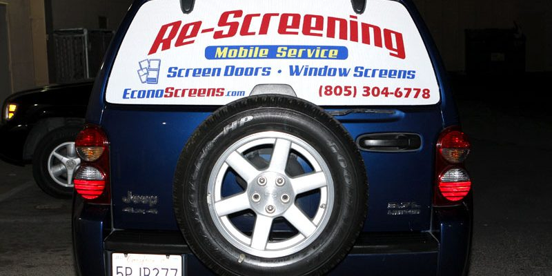 Custom vehicle window graphics see through vinyl by for Custom vinyl windows online