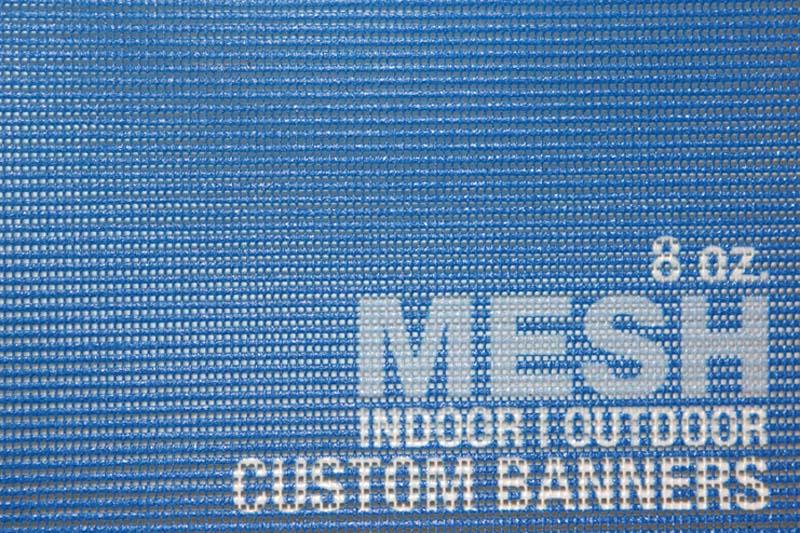 Custom Mesh Banners Wind Resistant Mesh Outdoor Banners