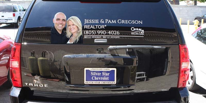 Car window graphics lettering simi valley sign shop