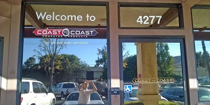Custom window graphics vinyl lettering in moorpark ca for Custom vinyl windows online