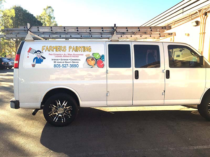 Van wrap vinyl graphics lettering decals simi valley