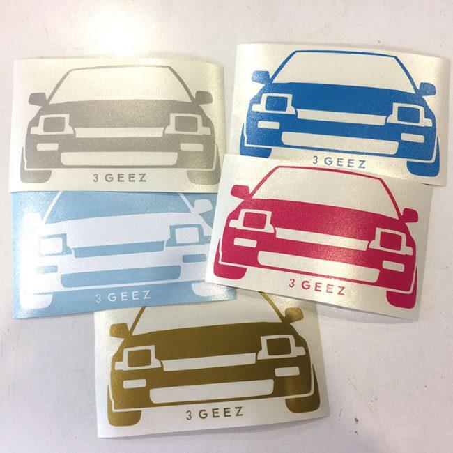 Custom car club decals stickers